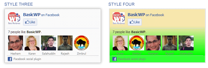 Facebook Like Box Customize Facebook Like Box Style 3 4 Png