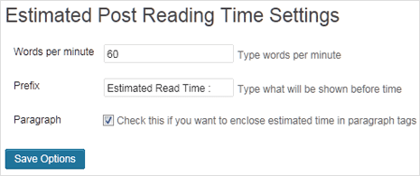 show estimated post reading time automatically in wordpress post