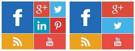 Metro Style Social icons Widget