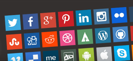 Social Wiggle animated metro style icons