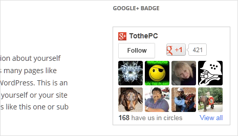 google plus badge like facebook like box