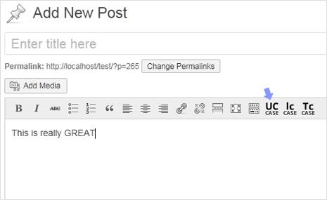 convert text case buttons in wordpress editor