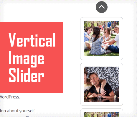 wordpress plugin to show vertical image slider