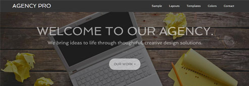 Agency Theme fade effect preview