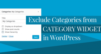 Exclude Categories from category widget in Wordpress